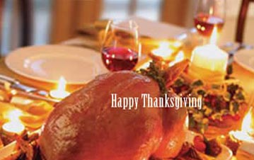 Thanksgiving Table With turkey